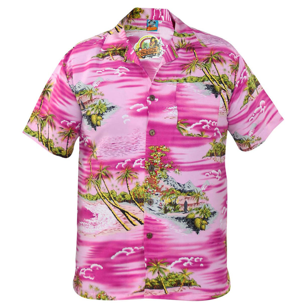 True Face Hawaiian Shirts Pink