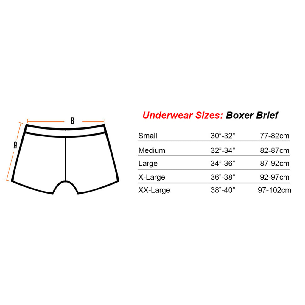 Gaffer Boxers Screw sizechart