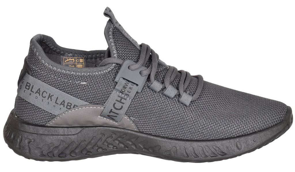 Mens Lace Up Breathable Trainers Grey
