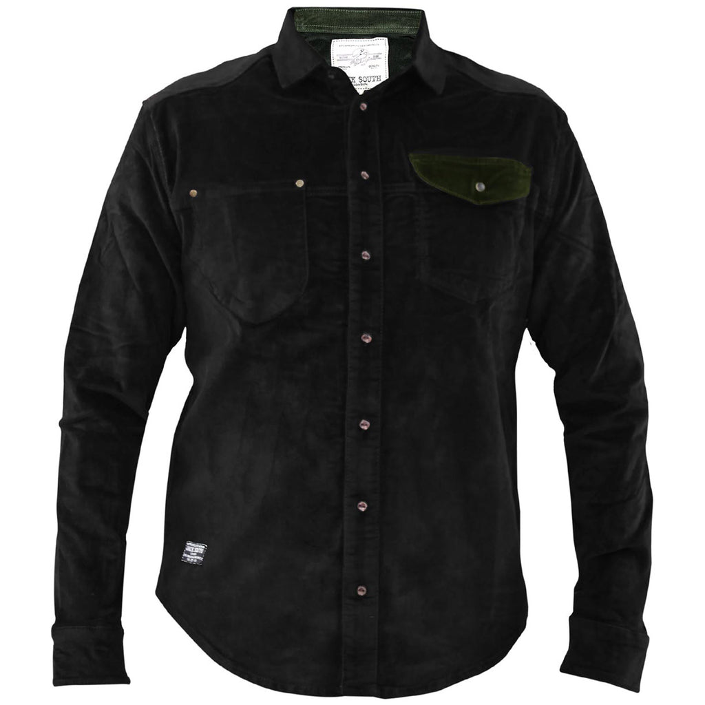 Jack South Men Shirt Gijon Black