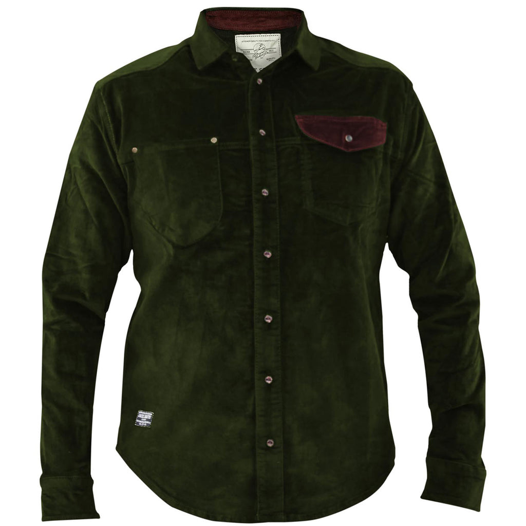 Jack South Men Shirt Gijon Green