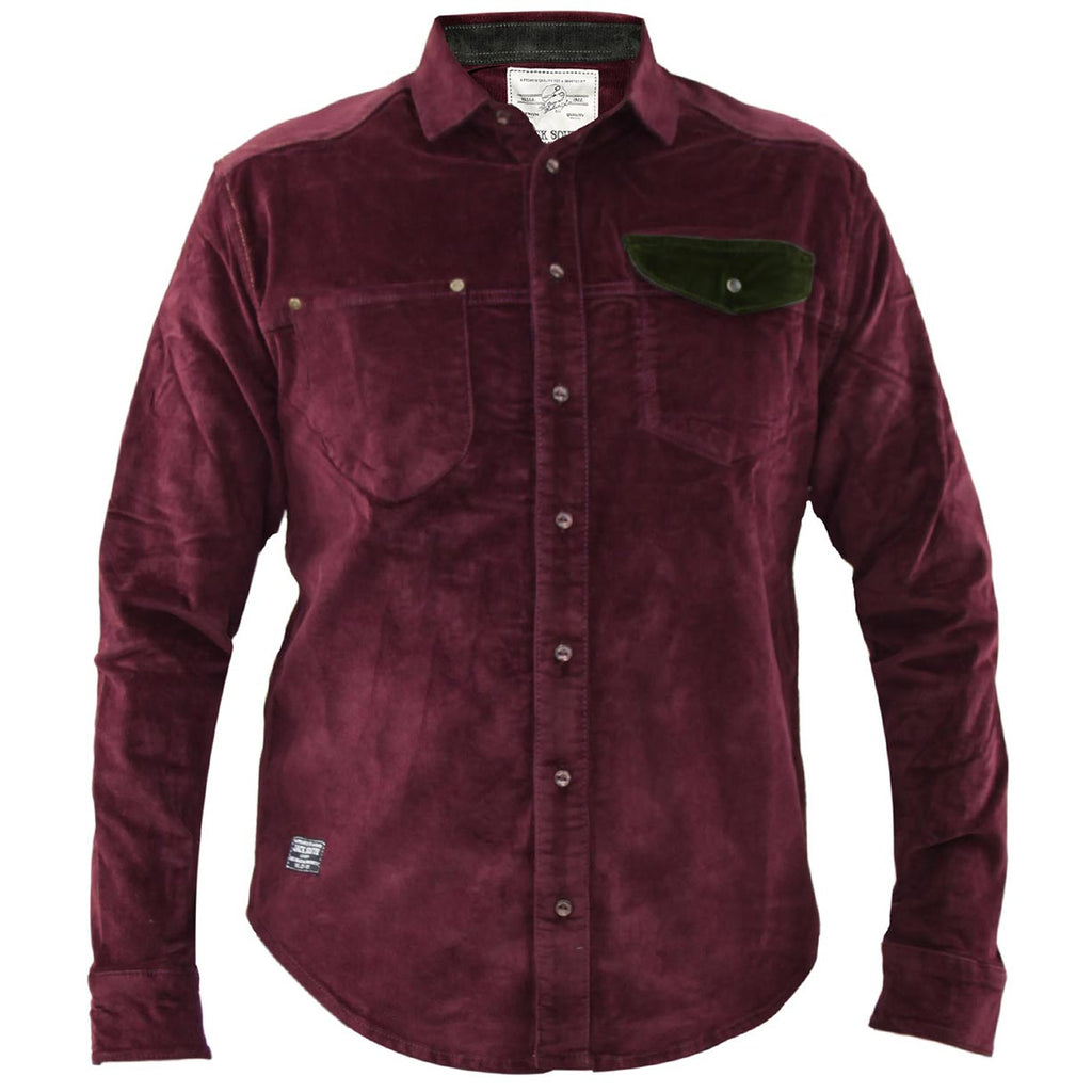 Jack South Men Shirt Gijon Wine