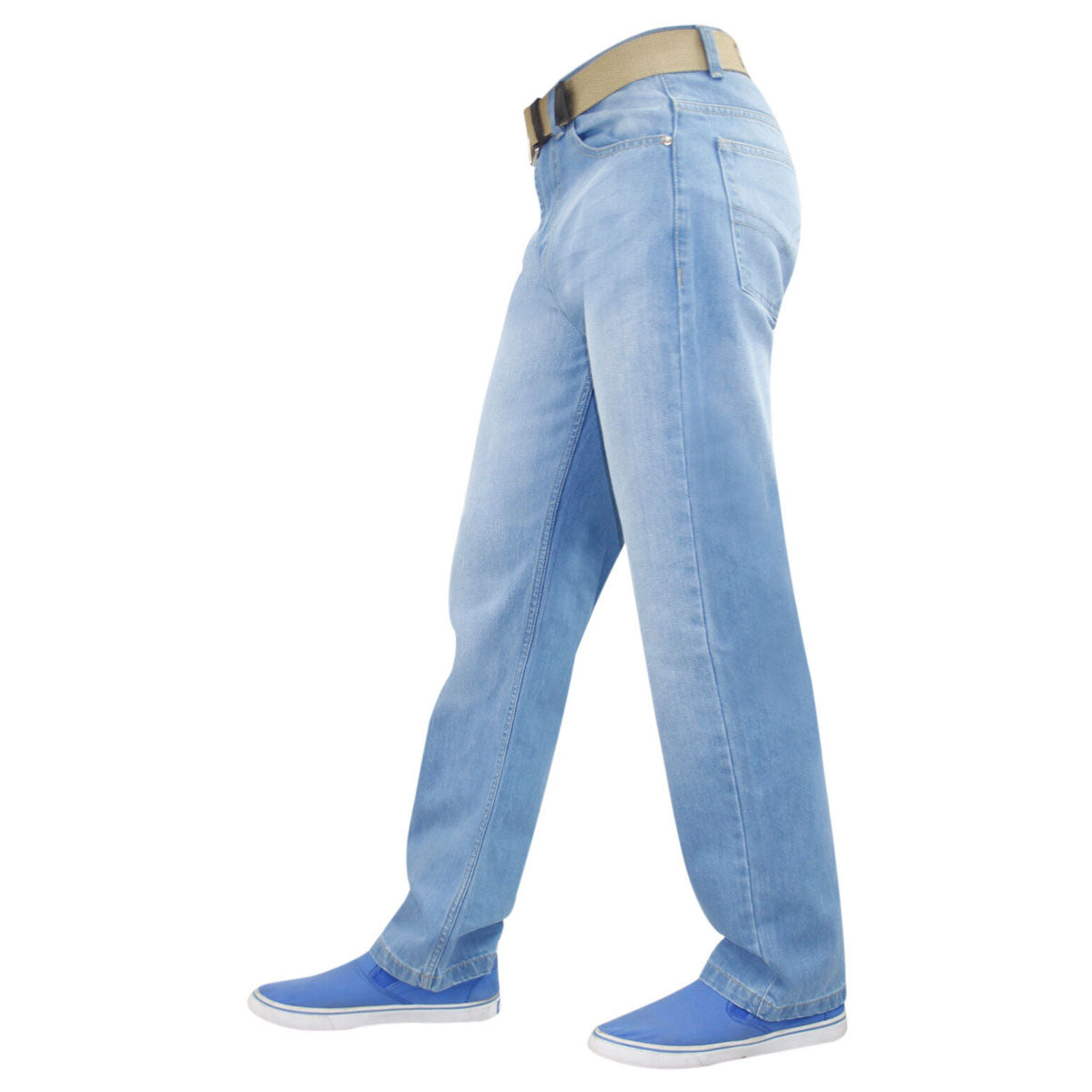 Gaffer Men Straight Leg Jeans Light Blue