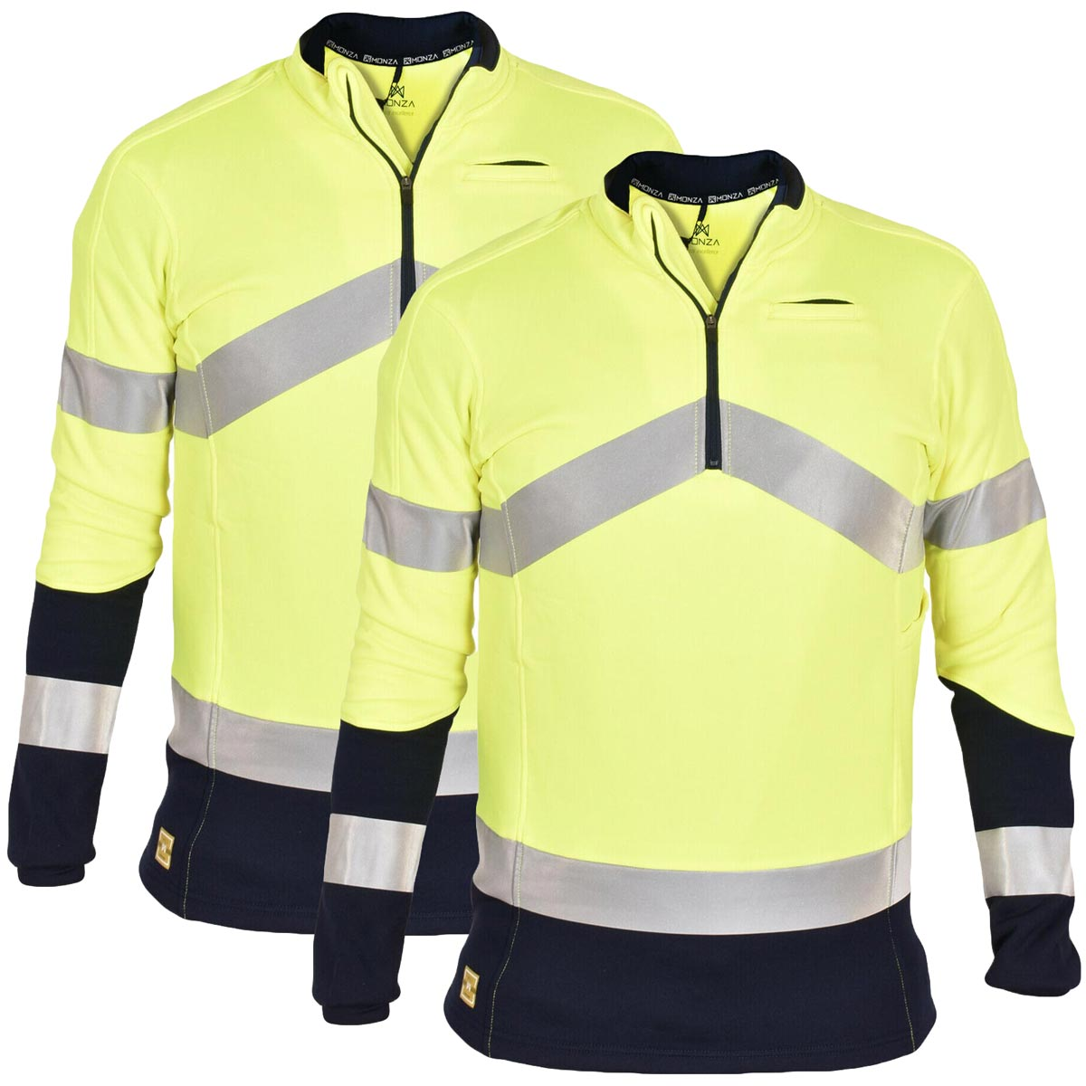 2 Pack Hi Viz High Visibility Polo Shirt