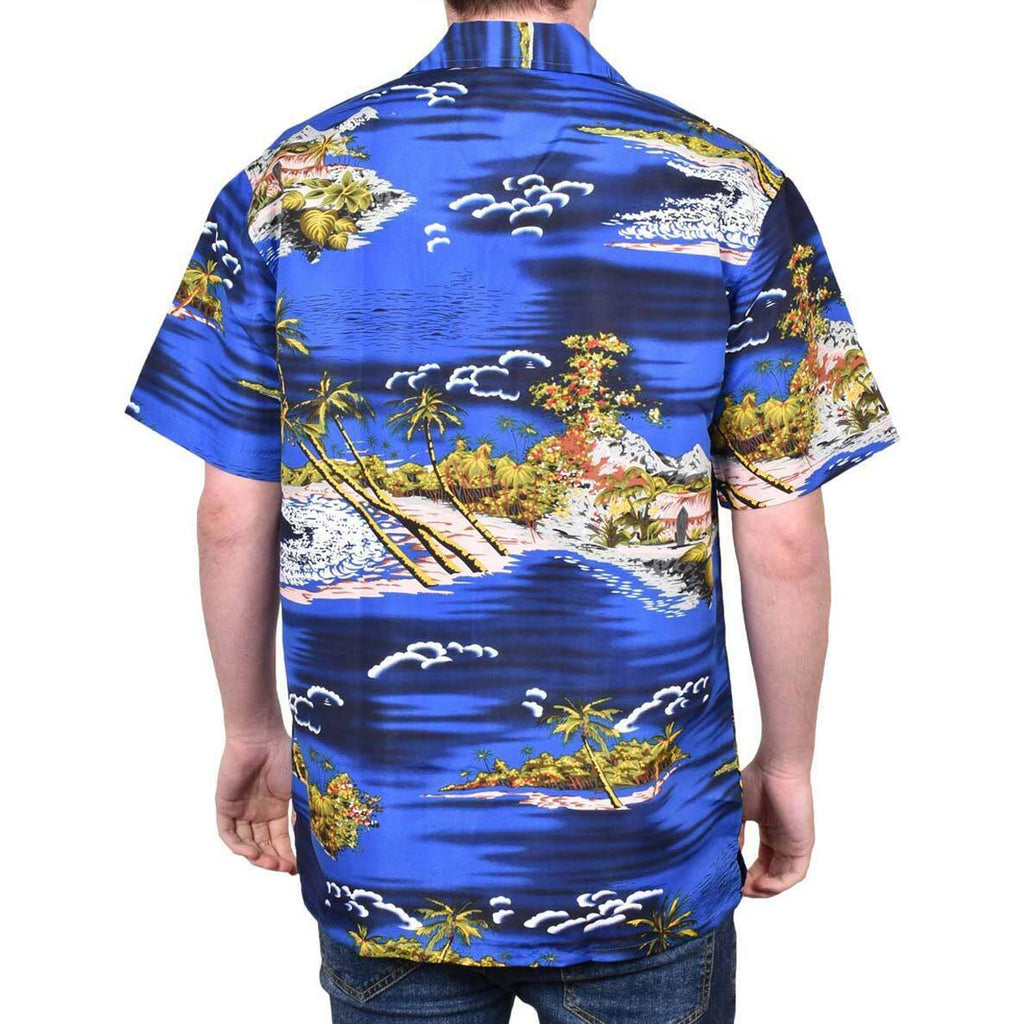 True Face Hawaiian Shirts Navy
