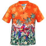 True Face Hawaiian Shirts Orange