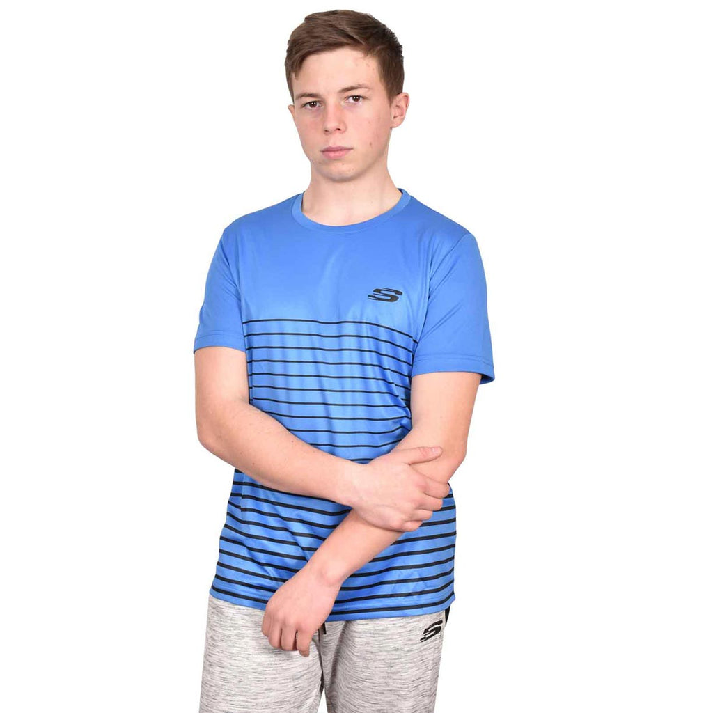 Skechers T Shirt Frant Blue