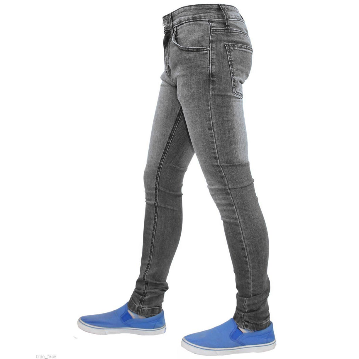 True Face Skinny Jeans TF021 Grey