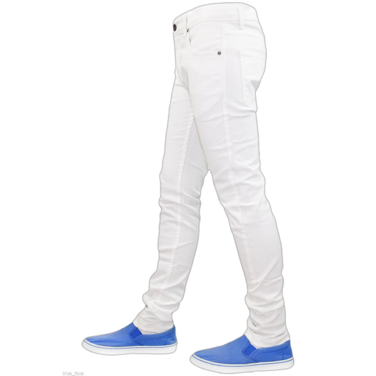 True Face Skinny Jeans TF021 White