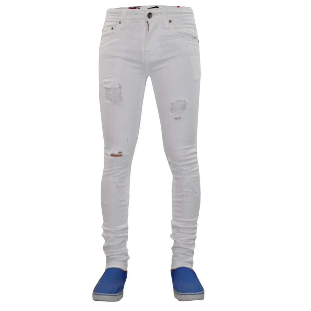 True Face Ripped Jeans TRF042 Stone White