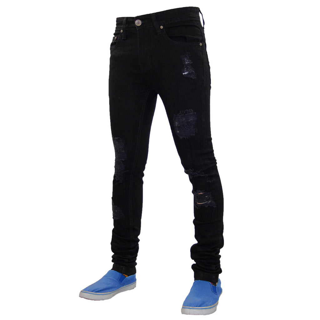 True Face Ripped Jeans TRF043 Black