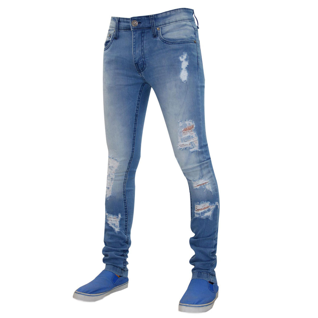 True Face Ripped Jeans TRF043 Light Blue