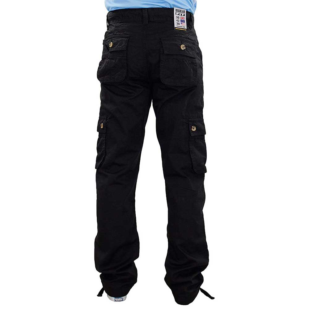 True Face Men Trousers Solo Black