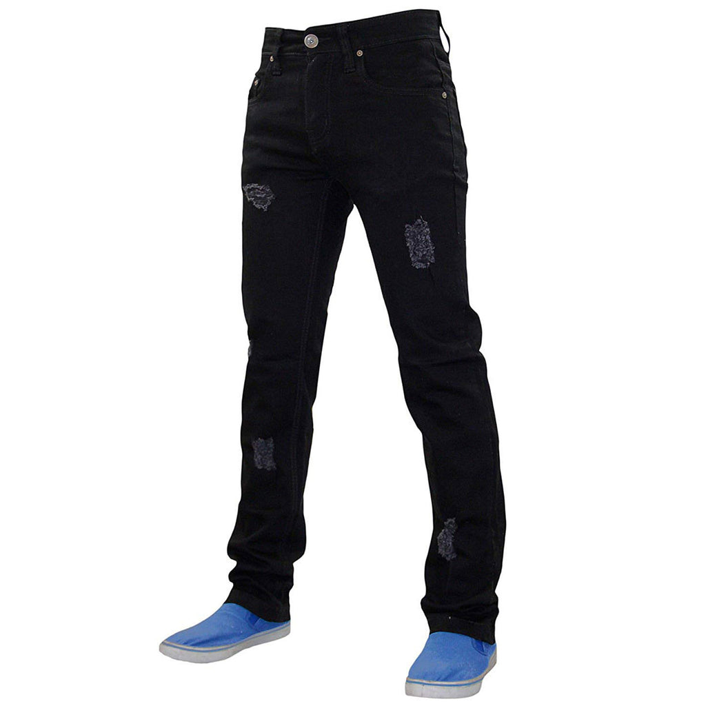 True Face Ripped Jeans TRF040 Black