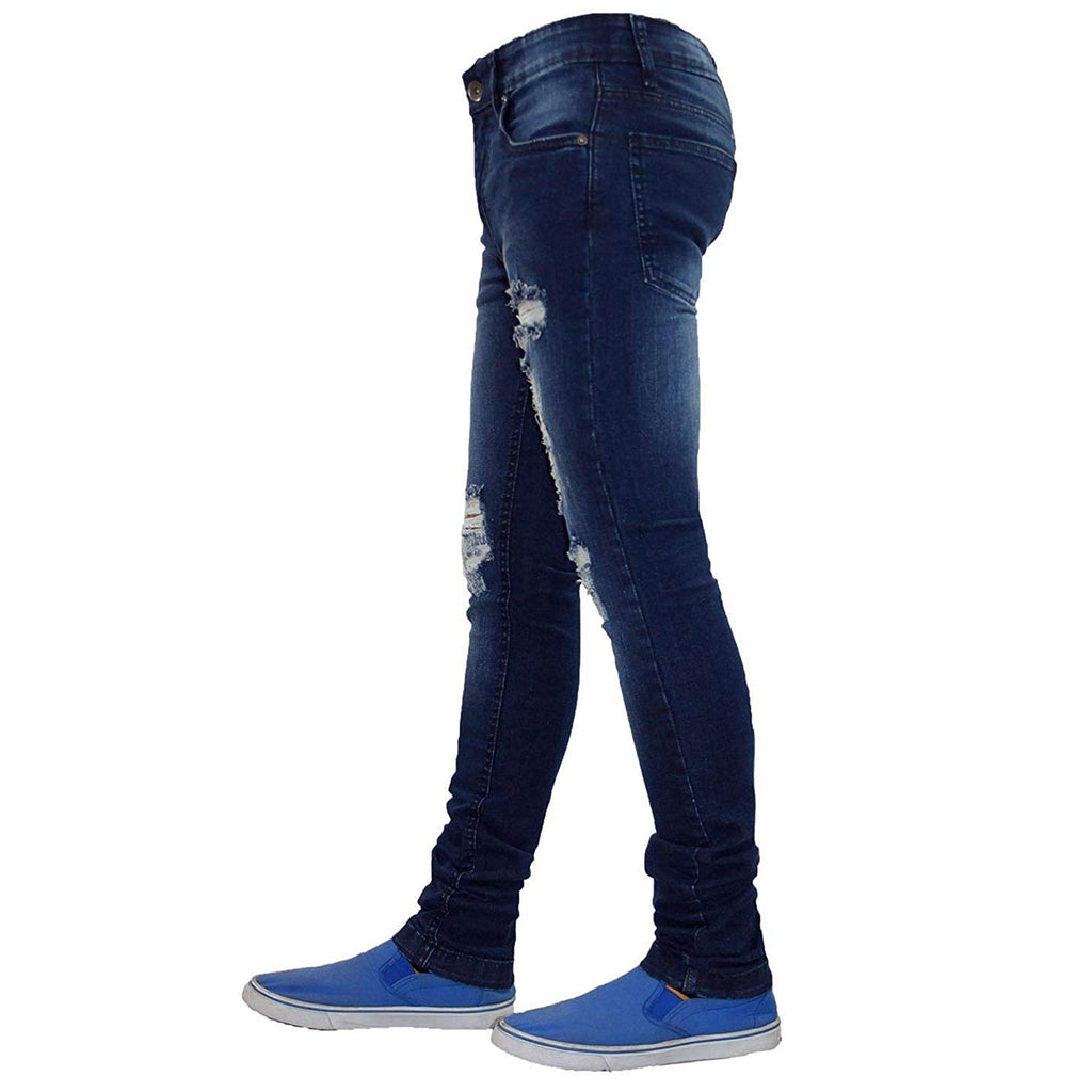 True Face Ripped Jeans TRF041 Dark Blue