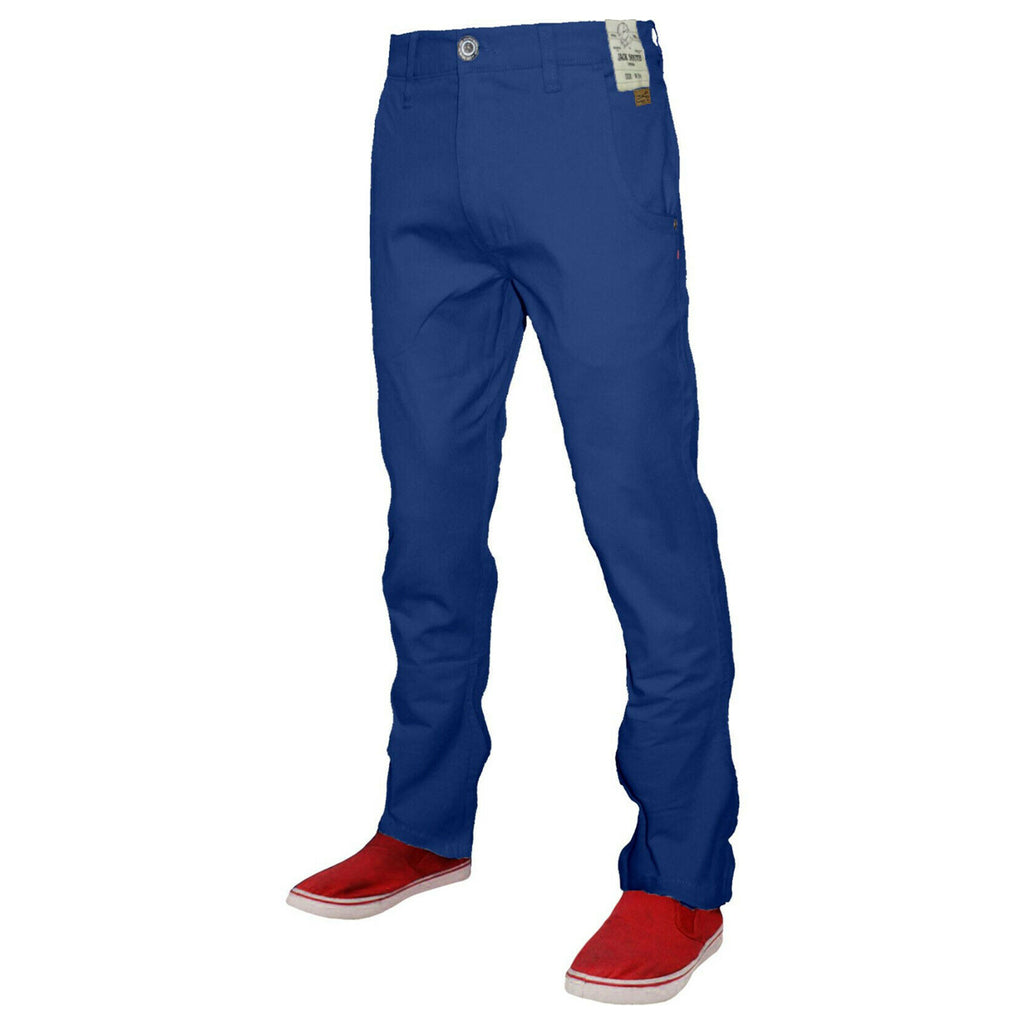Jack South Boohoo Chinos Blue