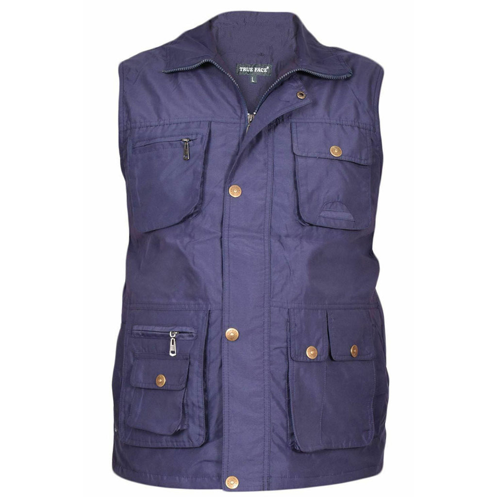 Mens Safari Gilet Fishing Hiking Waistcoat