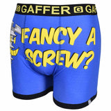 Gaffer Boxers Screw Blue