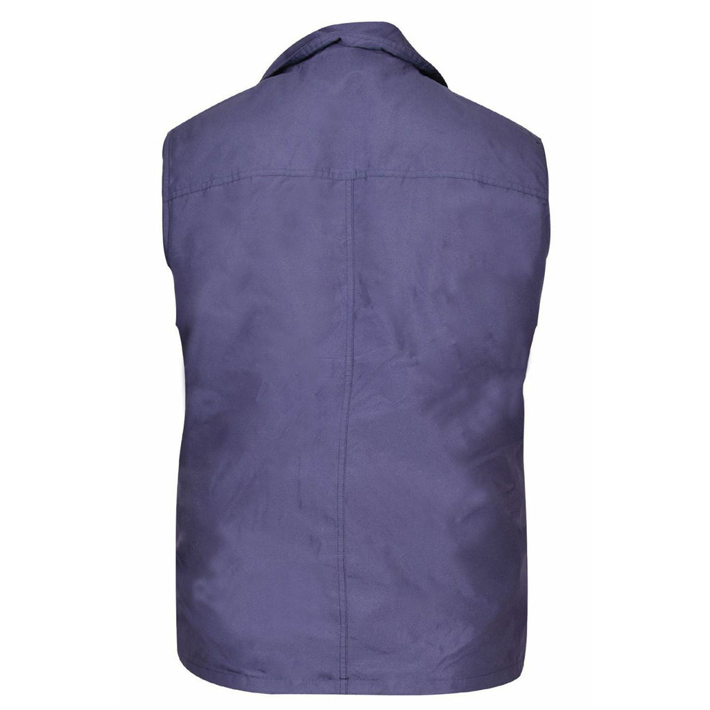Mens Safari Gilet Fishing Hiking Waistcoat Blue
