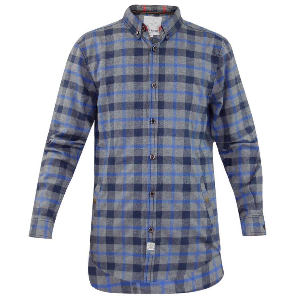Jack South Mens Check Shirt Blue