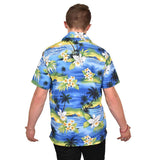 True Face Hawaiian Shirts Blue