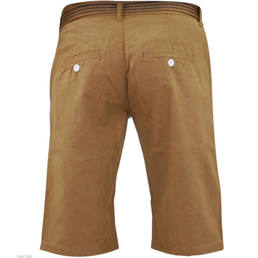 Kushiro City Ryan Shorts Zip Fly Camel