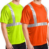 Hi Vis Viz Visibility Short Sleeve Safety Tshirt