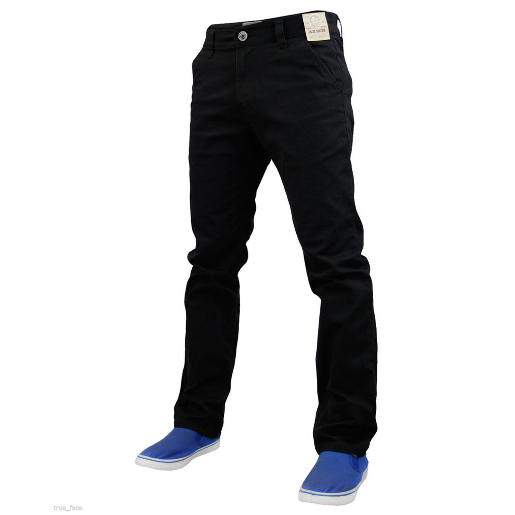 Jack South Boohoo Chinos Black