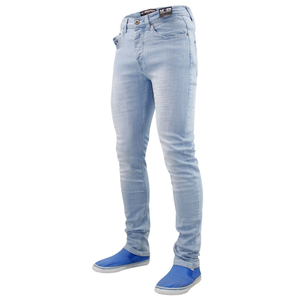 7 Series Beattie Skinny Jeans Light Wash