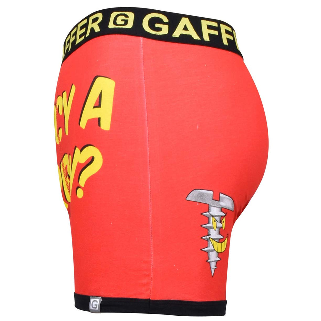 Gaffer Boxers Screw Red
