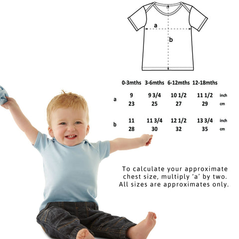 Vegan Baby Lap T-shirt - Sizing Guide