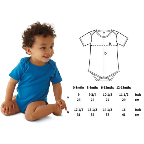 Vegan Babygrow - Sizing Guide