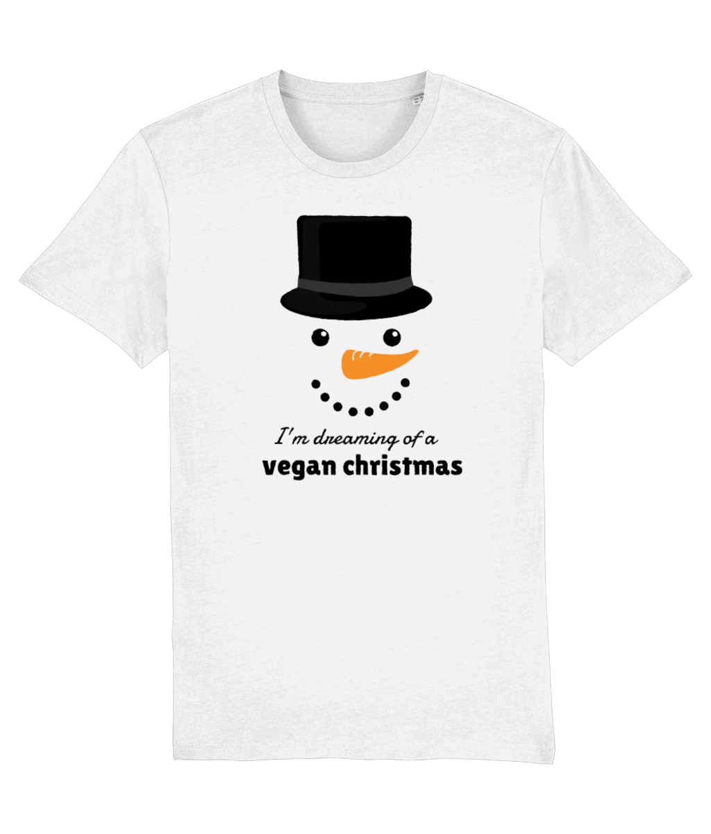 """I'm Dreaming Of A Vegan Christmas"" Vegan Christmas T-Shirt - White"
