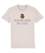 """Vegan Xmas Calories Don't Count"" Vegan Christmas T-Shirt - Candy Pink"