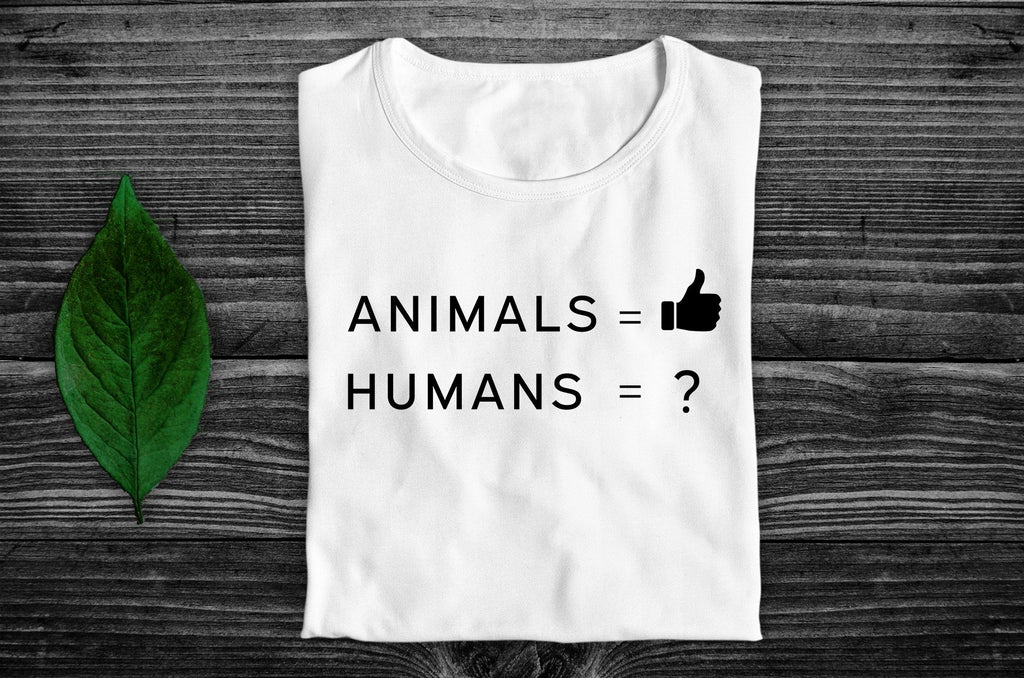 """Animals Thumbs Up"" Vegan T-Shirt - 100% Organic Cotton (Unisex) Clothing Vegan Original"