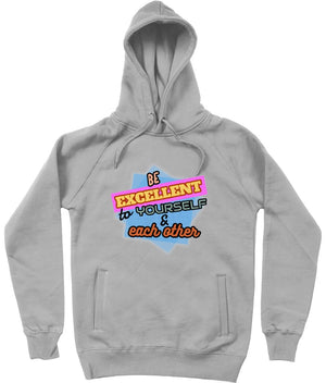 """Be Excellent to Yourself & Each Other"" Those Vegan Guys Hoodie (Unisex) Clothing Vegan Original Melange Grey X-Small"