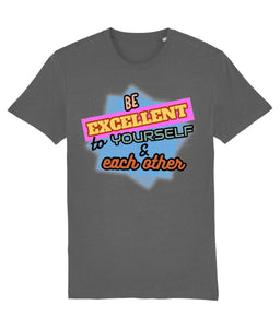 """Be Excellent To Yourself & Each Other"" Those Vegan Guys T-Shirt (Unisex) Clothing Vegan Original Anthracite XX-Small"
