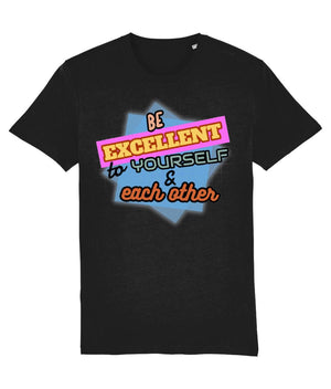 """Be Excellent To Yourself & Each Other"" Those Vegan Guys T-Shirt (Unisex) Clothing Vegan Original Black XX-Small"