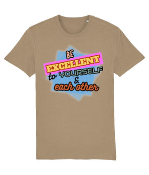 """Be Excellent To Yourself & Each Other"" Those Vegan Guys T-Shirt (Unisex) Clothing Vegan Original Camel X-Small"
