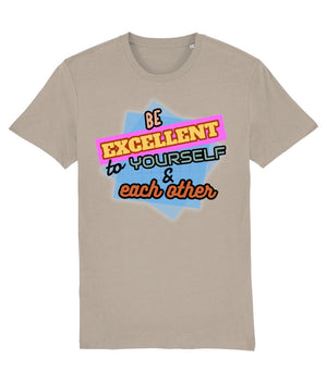 """Be Excellent To Yourself & Each Other"" Those Vegan Guys T-Shirt (Unisex) Clothing Vegan Original Desert Dust X-Small"