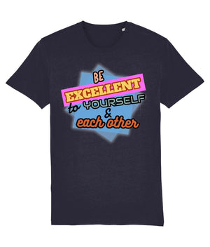 """Be Excellent To Yourself & Each Other"" Those Vegan Guys T-Shirt (Unisex) Clothing Vegan Original French Navy XX-Small"