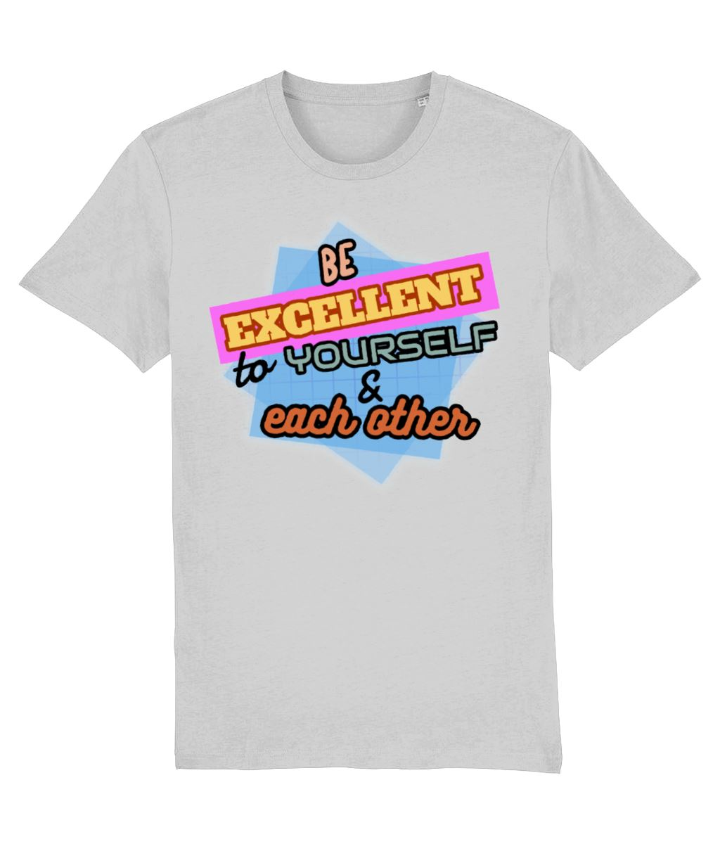 """Be Excellent To Yourself & Each Other"" Those Vegan Guys T-Shirt (Unisex) Clothing Vegan Original Heather Grey XX-Small"