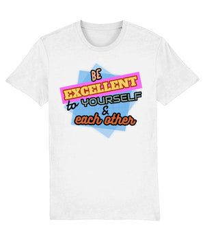 """Be Excellent To Yourself & Each Other"" Those Vegan Guys T-Shirt (Unisex) Clothing Vegan Original White XX-Small"