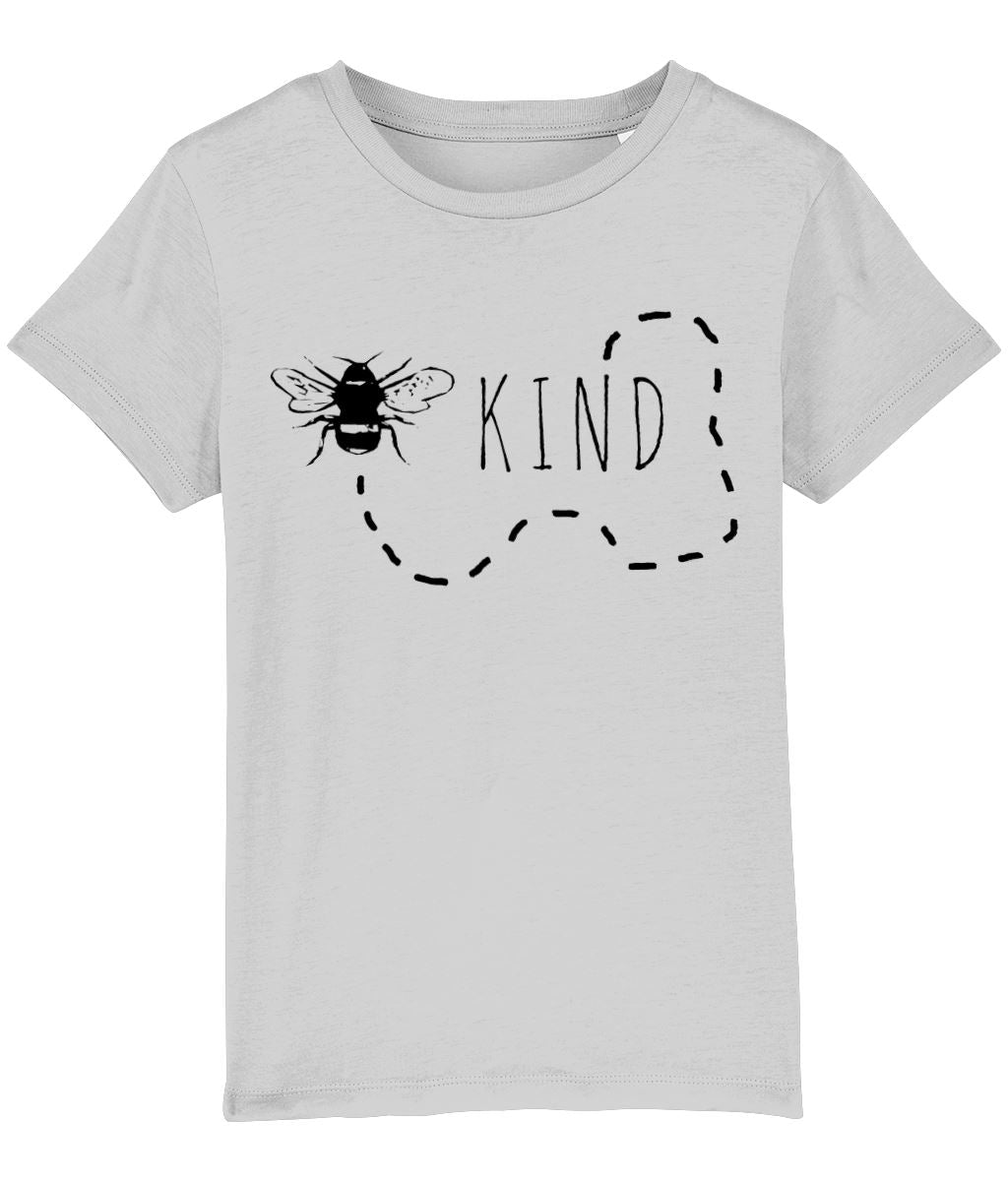 """Bee Kind"" Children's Vegan T-Shirt (Unisex) Clothing Vegan Original Heather Grey 3-4 years"