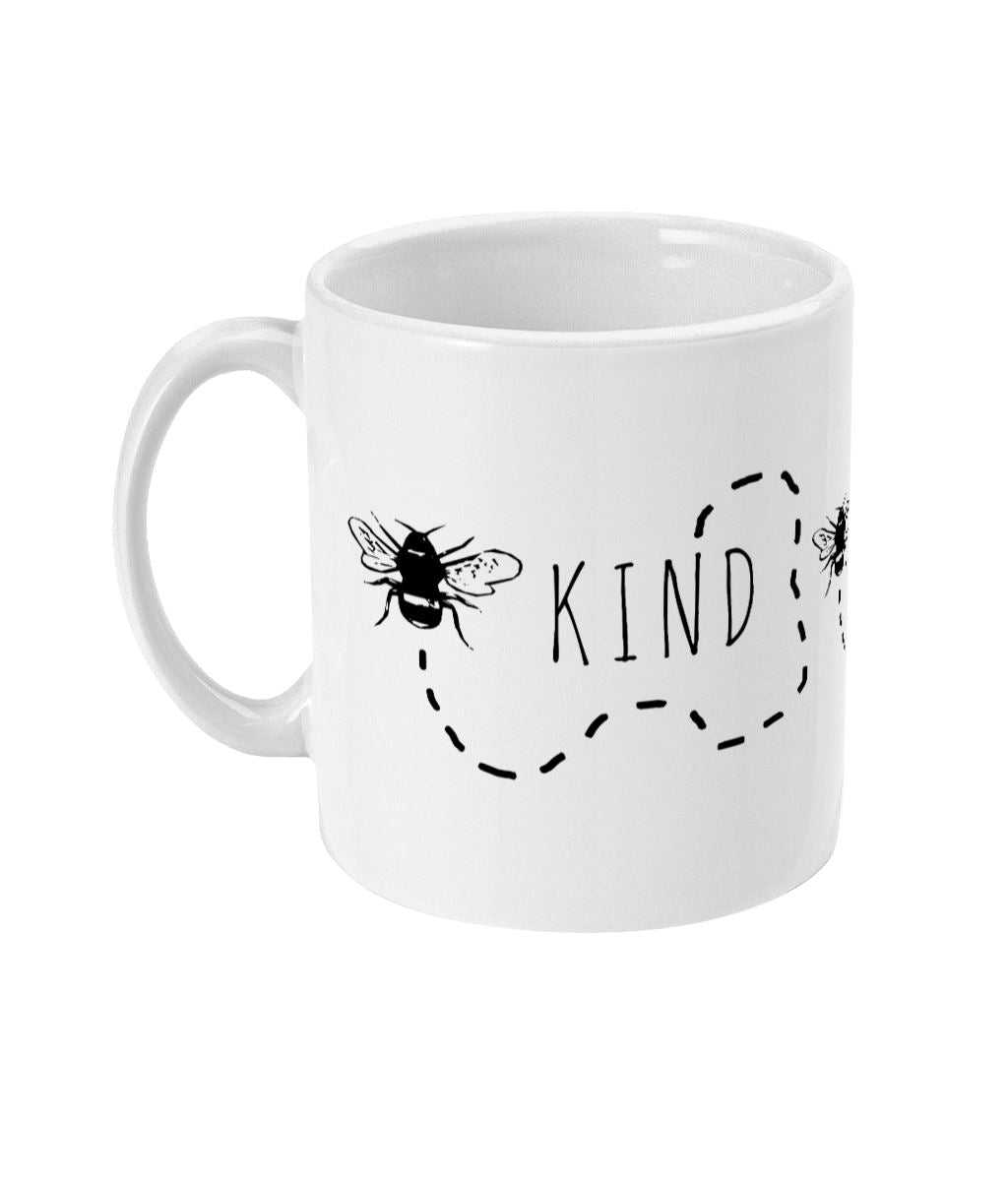 """Bee Kind"" Trail Vegan Mug Suggested Products Vegan Original Ceramic White"