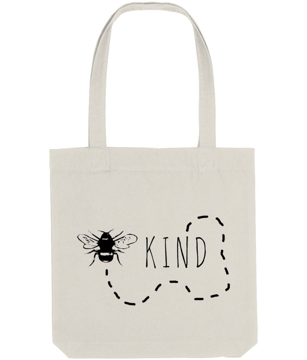 """Bee Kind"" Trail Vegan Tote Bag Clothing Vegan Original Natural"