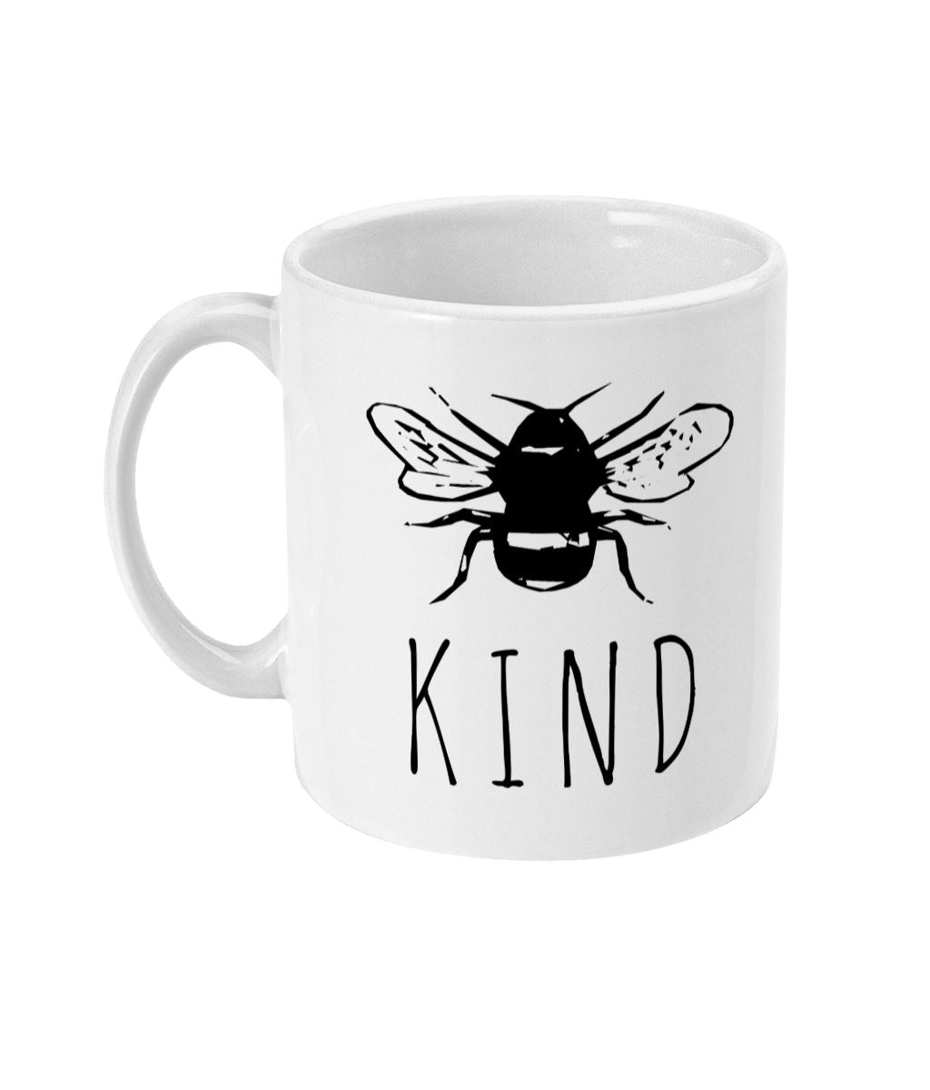 """Bee Kind"" Vegan Mug Suggested Products Vegan Original Ceramic White"