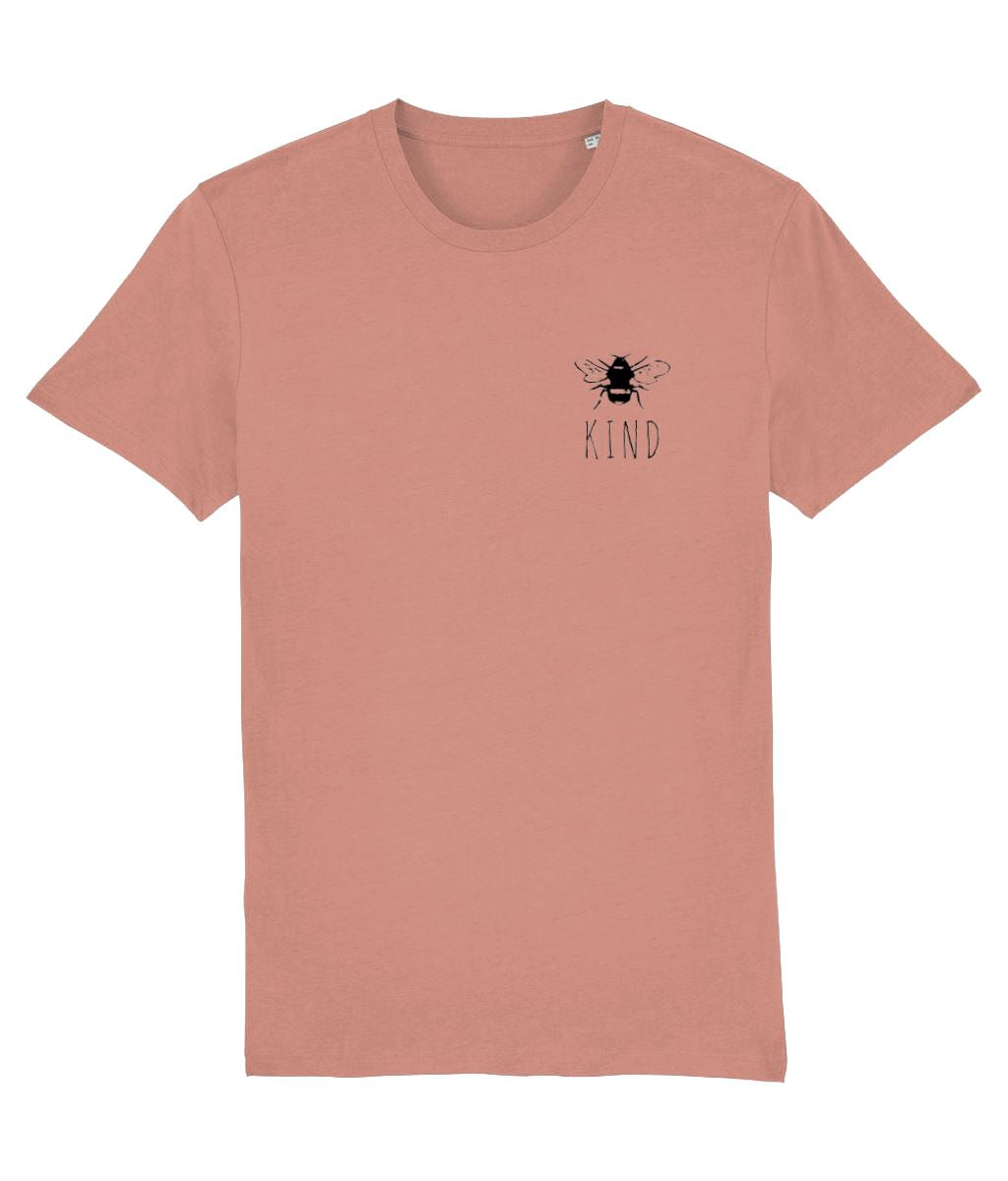"""Bee Kind"" Smart Vegan T-Shirt- 100% Organic Cotton (Unisex) Clothing Vegan Original Sunset Orange X-Small"
