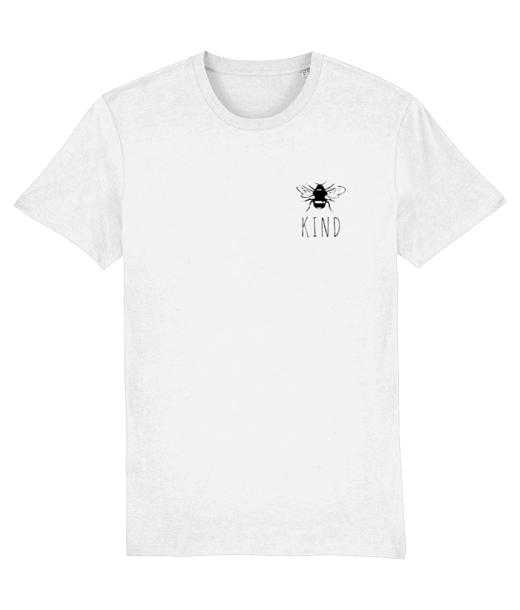 """Bee Kind"" Smart Vegan T-Shirt- 100% Organic Cotton (Unisex) Clothing Vegan Original White XX-Small"
