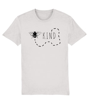 """Bee Kind"" Vegan T-Shirt - 100% Organic Cotton (Unisex) Clothing Vegan Original Cream Heather Grey XX-Small"